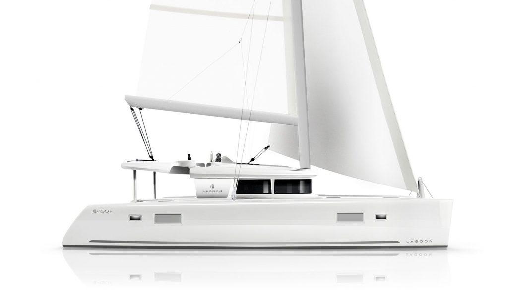 Catamarano Lagoon 450 Rendering Veduta Laterale