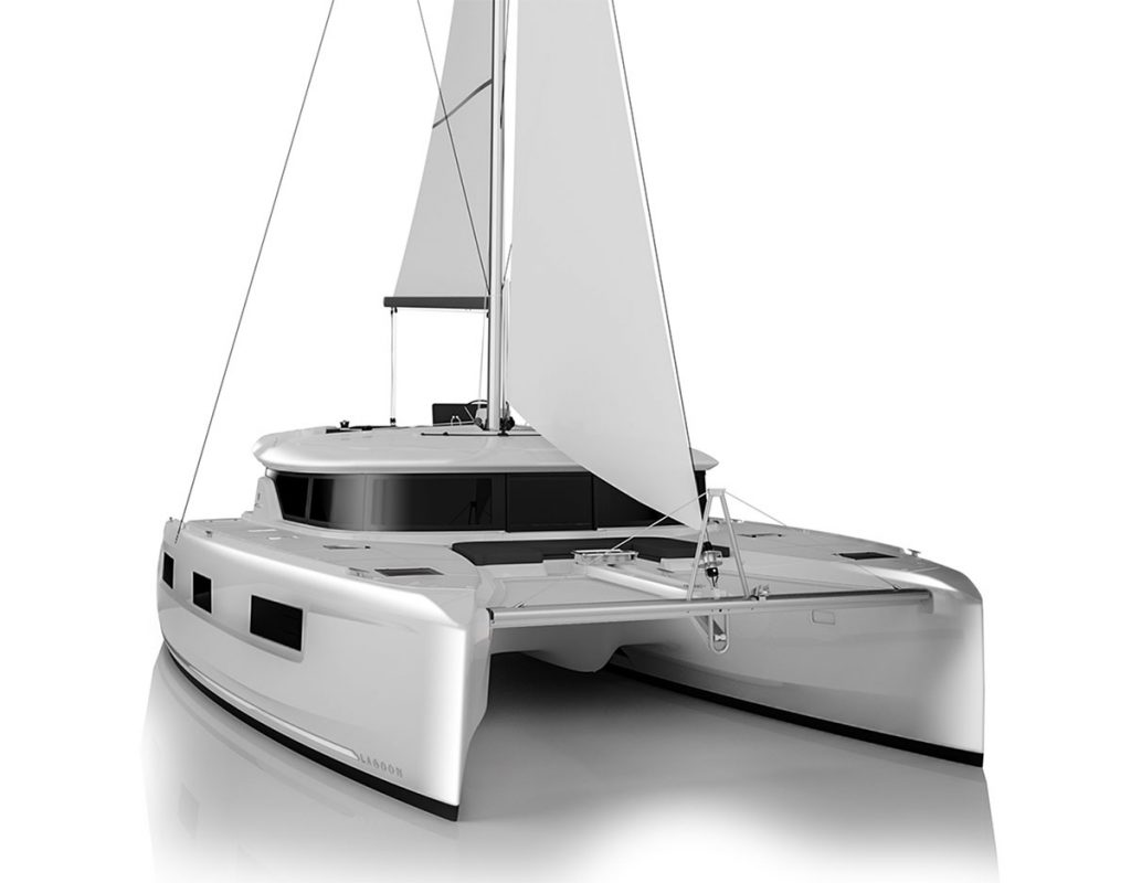 Catamarano Lagoon 46 Rendering di Apertura