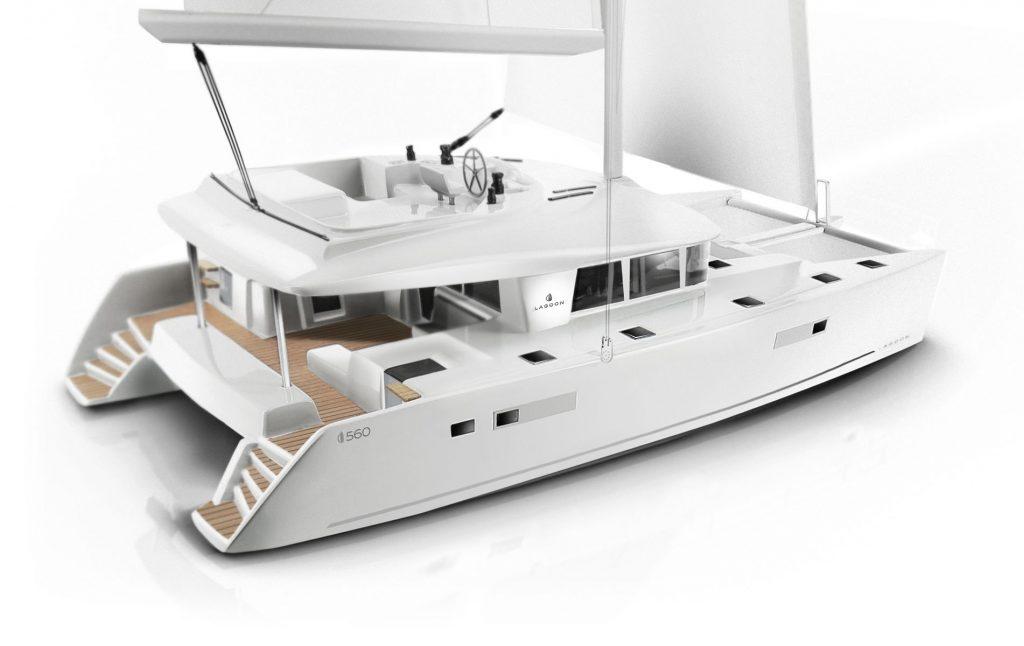 Catamarano Lagoon 560 Rendering di Apertura