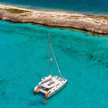 Catamarano Lagoon 42 Vista aerea